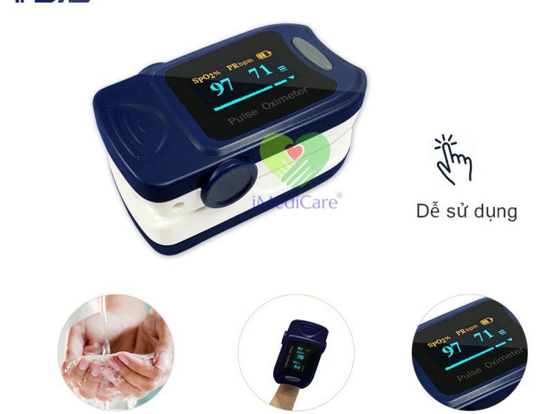 máy đo nồng độ oxy bão hòa trong máu spo2 đo nhịp tim